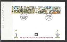 ALDERNEY - FDC Mi-Nr. 90 - 93 - 25 Jahre Patenschaft Alderneys Fernmelderegiment
