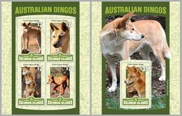 2016 Solomon Islands, Australian Dingo, S/sheet+sheet, MNH