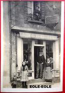 53 - CARTE PHOTO - EVRON - A LA BOTTE D'OR - Cordonnerie - Cordonnier - DURAND - Rue De La Perriere - Evron