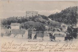 SUISSE,HELVETIA,SWISS,SCHWEIZ,SVIZZERA,SWITZERLAND ,VAUD,SAINT CERGUES PRES NYON,CARTE ANCIENNE AVEC TIMBRE SUISSE 1904 - VD Vaud