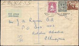 1951 IRELAND MULTI STAMP EXPRESS TO ETHIOPIA ( RECEIVING ADDIS ABA ) - Stamps