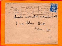 MAINE ET LOIRE, Cholet, Flamme à Texte, Foire Exposition Fin Septembre - Postmark Collection (Covers)