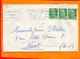 MAINE ET LOIRE, Cholet, Flamme à Texte, Mi-carème Réputée, 3eme Dimanche Après Pâques - Postmark Collection (Covers)