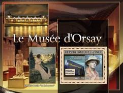 GUINEA 2007 SHEET ORSAY MUSEUM MUSEE ART PAINTINGS ARTE PINTURAS PAINTERS AUGUSTE RENOIR FREDERIC BAZILLE Gu0755a