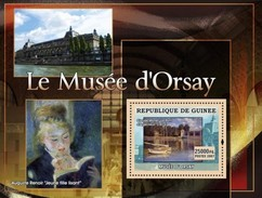 GUINEA 2007 SHEET ORSAY MUSEUM MUSEE ART PAINTINGS ARTE PINTURAS PAINTERS AUGUSTE RENOIR CLAUDE MONET Gu0755b