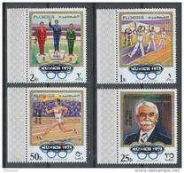 051a - Fujeira - MNH ** Mi N° 533 / 536 A Jeux Olympiques (olympic Games OVERPRINT MUNICH 72