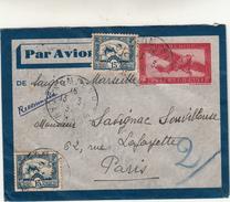 Cambogia To Paris, Cover Raccomandata 1937