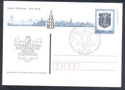 Poland Postal Staionery Card 1997: Fauna Eagle Adler Aigle Aquila; Coat Of Arms Poznan Architecture - Adler & Greifvögel