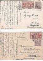 Italy: 4 Postcards, Rome To Czechoslovakia, 1920 (2), 1921 & 1924 - Ohne Zuordnung