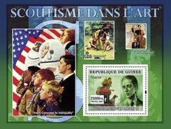 GUINEA 2007 SHEET SCOUTISME DANS L' ART SCOUTING IN ART PAINTINGS NORMAN ROCKWELL SCOUTS ARTE PINTURAS Gu0756a