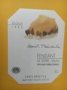 4274 - Saint Téhodule 1992 Fendant De Sierre  Valais Suisse - Etiquettes
