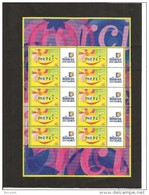 MINIFEUILLE     F 3433    LOGO  TIMBRES PERSONNALISESNEUF XX