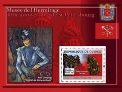 GUINEA 2007 SHEET MUSEUM OF THE HERMITAGE MUSEE DE L' HERMITAGE ST. PETERSBURG ART PAINTINGS ARTE PINTURAS Gu0758c