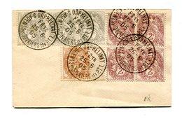 !!! TYPES BLANC SUR ENV FORMAT CARTE DE VISITE CACHET ORPHELINAT AGENTS & OUVRIERS DES PTT 1905 - RR - Marcofilia (sobres)