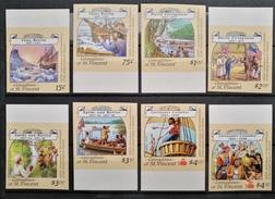 TS29 - St Vincent Grenadines 1988 Mi. 1099-1106 Complete Set 8v. MNH ALL IMPERF - Christopher Columbus