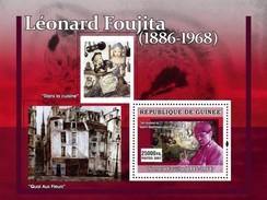 GUINEA 2007 SHEET JAPANESE PAINTERS LES PEINTRES JAPONAIS ART PAINTINGS LEONARD FOUJITA Gu0759a