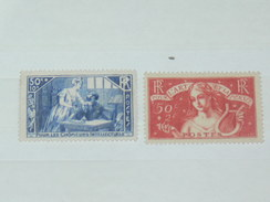 LOT N°3 / 2 TIMBRES NEUFS SANS CHARNIERE  / TIMBRE 1900 A 1938 / COTE YT 141 EUROS