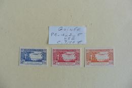 Guinée  Française :: Poste Aérienne 3 Timbres Neufs Sans Gomme