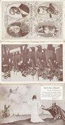 Triptyque De 3 Cartes Thème 14/18 ,au Dos ,tarif D'un éditeur De Cartes Postales ,2 Scans - Guerre 1914-18