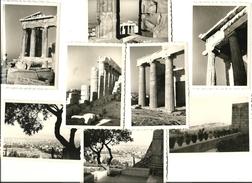 Grece, Athenes, Acropole Et Vue D Ensemble, Lot De 8 Photos, 1956     (bon Etat)  Dim: 10 X 7. - Lieux