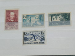 LOT N° 4 / 4 TIMBRES NEUFS SANS CHARNIERE  / TIMBRE 1900 A 1938 / COTE YT 26 EUROS