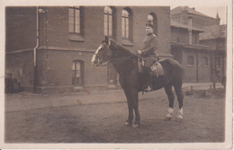 AK Foto Deutscher Soldat Zu Pferd - 1. WK (29015) - Guerra 1914-18