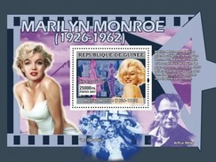 GUINEA 2007 SHEET MARILYN MONROE ACTRESS ACTRESSE CINEMA ARTHUR MILLER PLAYWRIGHT Gu0762a