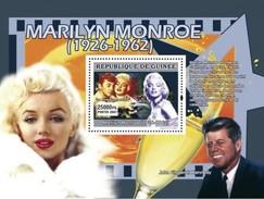 GUINEA 2007 SHEET MARILYN MONROE ACTRESS ACTRESSE CINEMA JFK KENNEDY AMERICAN PRESIDENT Gu0762c