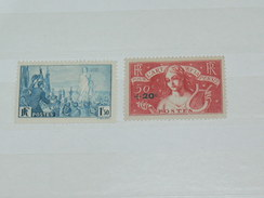 LOT N° 4 / 2 TIMBRES NEUFS SANS CHARNIERE  / TIMBRE 1900 A 1938 / COTE YT 46 EUROS