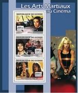 GUINEA 2007 SHEET MARTIAL ARTS IN CINEMA ACTORS ACTRESSES CINEMA JET LI BRUCE LEE UMA THURMAN Gu0763