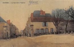 BRIENON - La Rue De La Poterne (carte Toilée) - Brienon Sur Armancon
