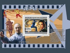 GUINEA 2007 SHEET MARTIAL ARTS IN CINEMA ACTORS ACTRESSES CINEMA JET LI Gu0763a