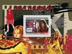 GUINEA 2007 SHEET MARTIAL ARTS IN CINEMA ACTORS ACTRESSES CINEMA UMA THURMAN KILL BILL Gu0763c