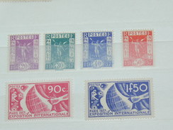 LOT N° 4 / 6 TIMBRES NEUFS SANS CHARNIERE  / TIMBRE 1900 A 1938 / COTE YT 82 EUROS - France