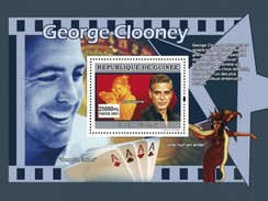 GUINEA 2007 SHEET STARS OF AMERICAN CINEMA STARS DU CINEMA AMERICAIN ACTORS ACTOR GEORGE CLOONEY Gu0764a