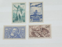 LOT N°4 / 4 TIMBRES NEUFS SANS CHARNIERE  / TIMBRE 1900 A 1938 / COTE YT 102 EUROS
