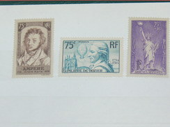 LOT N° 4 / 3 TIMBRES NEUFS SANS CHARNIERE  / TIMBRE 1900 A 1938 / COTE YT 115 EUROS