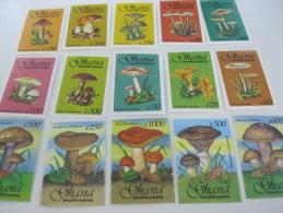 Ghana-Mushrooms-SC# 1579-1593 - Mushrooms