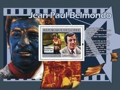 GUINEA 2007 SHEET STARS OF FRENCH CINEMA STARS DU CINEMA FRANÇAIS ACTORS JEAN PAUL BELMONDO Gu0765a