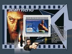 GUINEA 2007 SHEET STARS OF FRENCH CINEMA STARS DU CINEMA FRANÇAIS ACTORS JEAN RENO Gu0765b