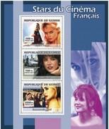 GUINEA 2007 SHEET STARS OF FRENCH CINEMA STARS DU CINEMA FRANÇAIS ACTRESSES BRIGITTE BARDOT SOPHIE MARCEAU BEART Gu0766