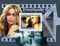 GUINEA 2007 SHEET STARS OF FRENCH CINEMA STARS DU CINEMA FRANÇAIS ACTRESSES ACTRESS EMANUELLE BEART Gu0766c