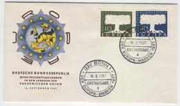 GERMANY 1957 EUROPA FDC, Scott Nos. 771-772, Michel Nos. 268-269 - Europa-CEPT