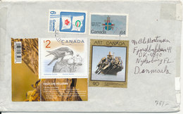 Canada Cover Sent To Denmark With More Topic Stamps