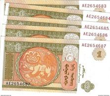 MONGOLIE 1 ТӨГРӨГ (TÖGRÖG) 2008 P-61A NEUF 5 PCS [MN428a] - Mongolia