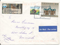 Canada Cover Sent Air Mail To Denmark Calgary 8-7-1998 With Topic Stamps