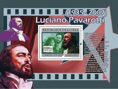GUINEA 2007 SHEET LUCIANO PAVAROTTI ITALIAN OPERATIC TENOR OPERA SINGER Gu0770a