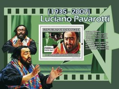 GUINEA 2007 SHEET LUCIANO PAVAROTTI ITALIAN OPERATIC TENOR OPERA SINGER Gu0770b