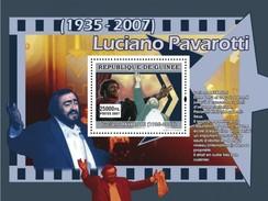 GUINEA 2007 SHEET LUCIANO PAVAROTTI ITALIAN OPERATIC TENOR OPERA SINGER Gu0770c