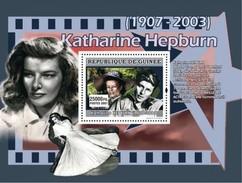 GUINEA 2007 SHEET KATHARINE HEPBURN ACTRESS CINEMA  Gu0771a